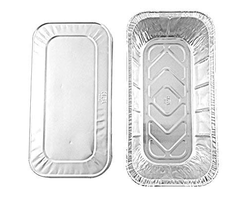 Handi-Foil of America Hfa 1/3 Third-Size Deep Aluminum Foil Steam / 5 lb Loaf Pan w/Foil Lids (Pack of 50 Sets) by Handi-Foil (Image #2)
