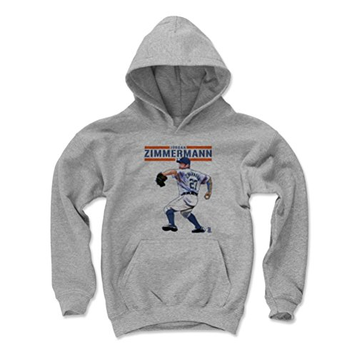 Price comparison product image Jordan Zimmermann Play B Detroit Kids Youth Hoodie S Gray