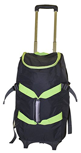 smart-backpack-black-green-4-1-rolling-backpack-luggage-duffel-gym-bag-removable-dolly-laptop-tablet