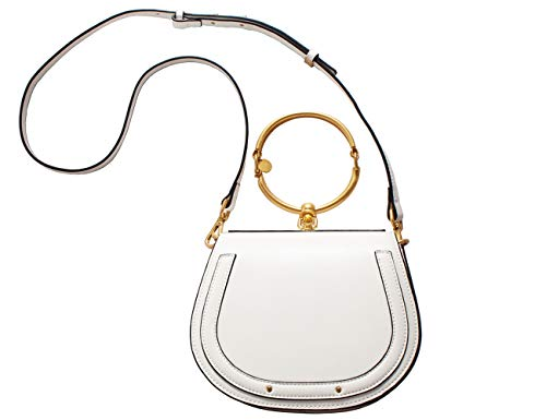 Branded Genuine Leather Designer Inspired Bracelet Saddle Crossbody Handbags for Women Clearance