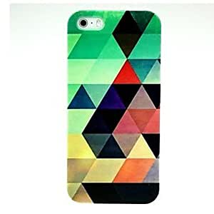 LCJ Green Abstract Pattern Hard Case for iPhone 4/4S