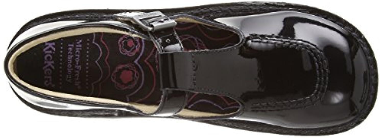 Kickers Girl's Kick T Patent Mary Jane Flats - Black (Black/Black), 3 UK (36 EU)