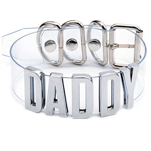 Personalized Name Choker Necklace Word Collar Cosplay Halloween Costume (Silver Daddy Choker) (Daddy And Me Halloween Costumes)