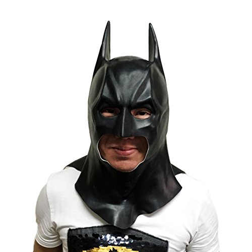 Mask Batman Red Costume (Wellin Adult Kids Bloody Horror Melted Face Scary Halloween Latex Mask)