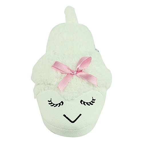 Women White Plush Fleece Slippers Slippers Cozy House Indoor Slip Forfoot Lamb On AdvBqA