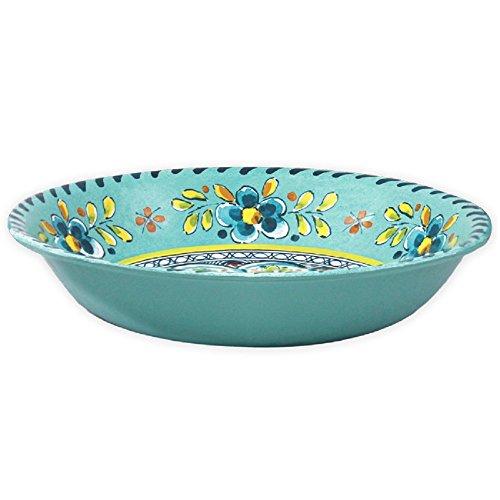 Le Cadeaux Madrid Salad Bowl, 13.75-Inch, Turquoise