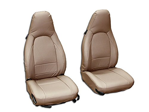 - Iggee Beige Artificial Leather Custom Made Original fit Front seat Covers Designed for Porsche 911 928 944 968 1985-1998