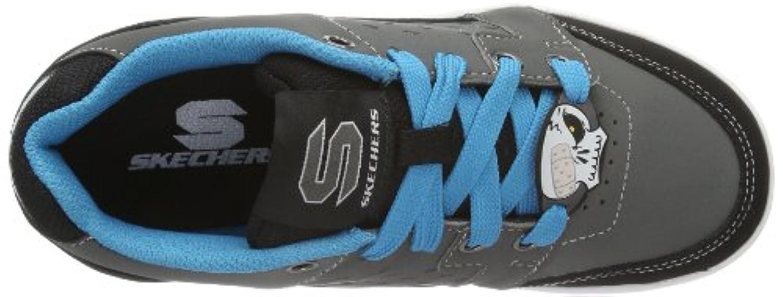 Skechers Boys' Kelp- Kickturn Shoes, Charcoal/Blue, 1.5 UK (34 EU)