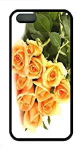 awesome cases Orange Roses TPU Black Case for iphon 5/5S