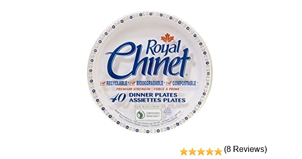 Royal Chinet Dinner Plates 10 3 8 Inch 40 Count Amazon Ca Health