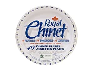Royal Chinet Dinner Plates, 10 3/8-Inch, 40-Count