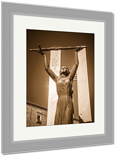 Ashley Framed Prints Toledo Famous City In Spain, Wall Art Home Decoration, Sepia, 30x26 (frame size), Silver Frame, AG6114304 by Ashley Framed Prints