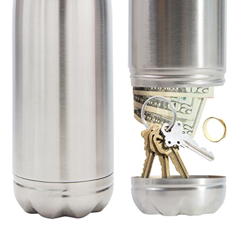 Diversion Water Bottle Can Safe by Stash-it, Stainless Steel Tumbler with Hiding Spot for Money, Bonus Smell Proof Bag, Discreet Decoy for Travel or at Home, Bottom Unscrews to Store Your Valuables