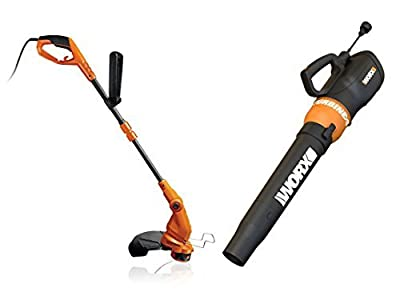WG516 + WG119 WORX Electric Turbine Leaf Blower & Electric 2-in-1 Trimmer/Edger by Positec/Worx - Lawn & Garden