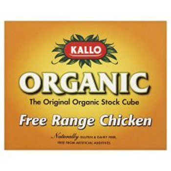 Kallo - Organic Chicken Stock Cubes - 66g (Pack of 3)