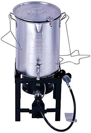 Grill 30 Quart Propane Gas Turkey Fryer with Spigot