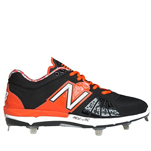 Ny Balanse Lowcut 3000v2 Metall Klamp Skoen Mens Baseball 15 Black-orange