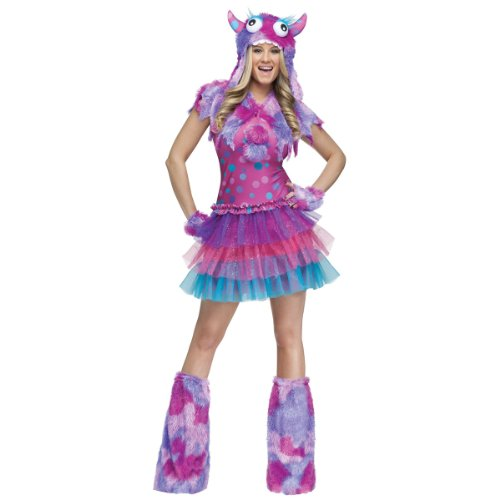 FunWorld Polka Dot Monster, Pink/Purple, 2-8 Small (Polka Dot Monster Costumes)