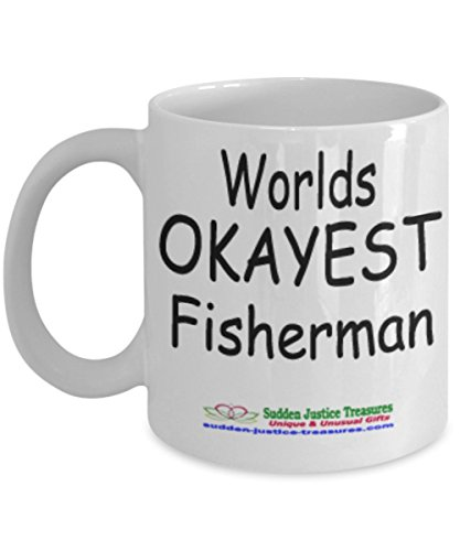 Taxi Cookie Jar (Worlds Okayest Fisherman White Mug Unique Birthday, Special Or Funny Occasion Gift. Best 11 Oz Ceramic Novelty Cup for Coffee, Tea, Hot Chocolate Or Toddy)