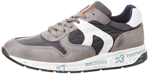 Dockers by Gerli 40br001-207206, Zapatillas para Hombre Gris (Grau/blau 206)