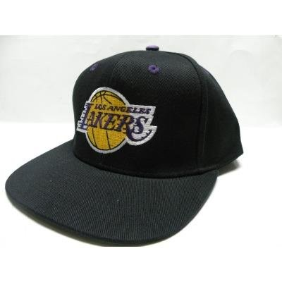 c24fba85bcc82 NBA LA Lakers Black Retro Logo Snapback Cap Old School - Buy Online ...