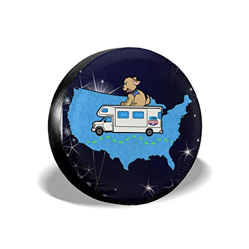(WWT Clipart-Kid-Camper Spare Tire Cover Waterproof Dust-Proof for Jeep,Trailer,RV,SUV,Truck and Other Vehicles 17 Inch)