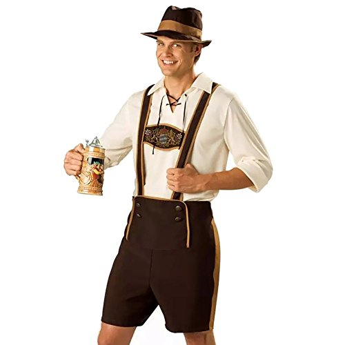 Beer Guy Costumes (Cuteshower Men's German Oktoberfest Costume Adult Suit Halloween Clothing X-Large)