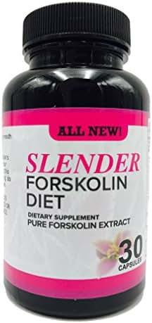 Slender Forskolin Dietary Supplement- 100% Natural, Pure, Potent Ingredients(Best Coleus Forskohlii on the Market) - Safe Weight Loss Supplement for Women & Men, 30 capsules