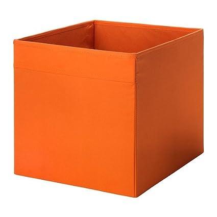 33 x 38 x 33 cm drona Home/Office naranja caja de almacenaje ideal para