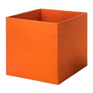 ikea drona fabric storage box 13x15x13 organizer orange home kitchen. Black Bedroom Furniture Sets. Home Design Ideas