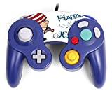 Cute Boy with American Flag Hat Happy 4th of July Quote Celebration Image Design Pattern Gamecube Controller Vinyl Decal Sticker Skin by Trendy Accessories