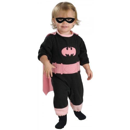DC Comics Pink Batgirl Romper Costume,Newborn 1 to 6 -
