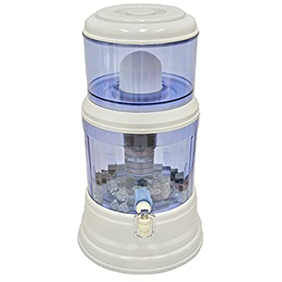 SAQUA Countertop Water Filtration Purification System, Natural Gravity Water Dispenser 3 Gallons (12L)