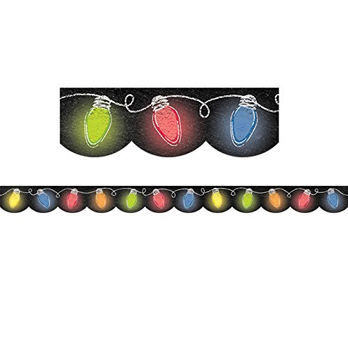 Creative Teaching Press Holiday Lights in Chalk Border (6808)