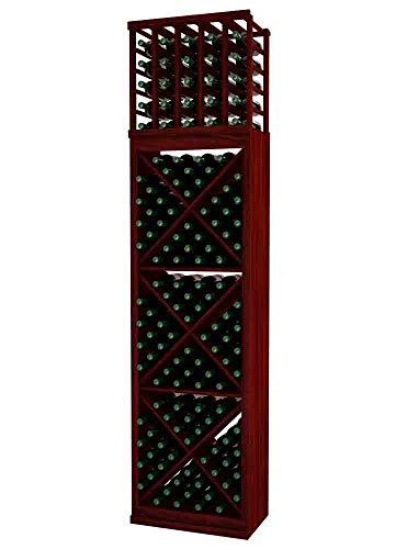 Designer Series Wine Rack - Solid Diamond Cube - 8 Ft - Premium Redwood Classic Mahogany Stain - No ()