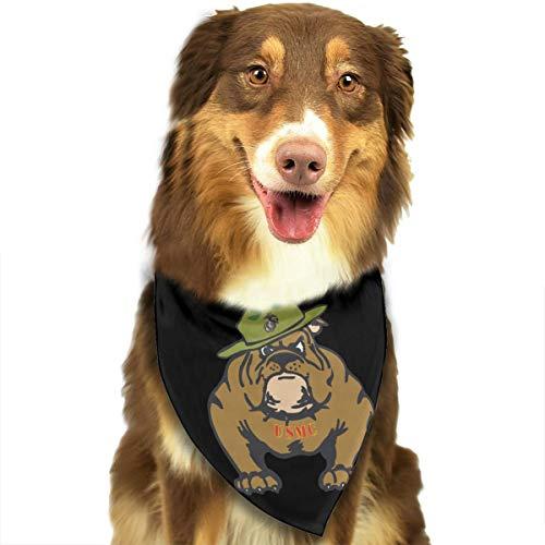 HJKH PJKL Marine Corps Bulldog USMC Logo Pet Dog Puppy Cat Neck Scarf Bandana Collar Neckerchief Mchoice - Any - Dog Logo Bandana