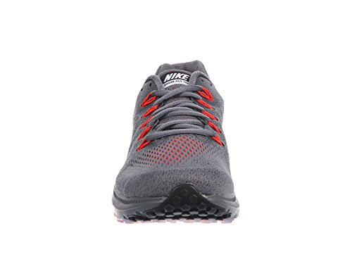 Nike Mens In Alla Ut Låga Mörkgrå / Svart / Totala Karmosin Nylon Löparskor 10,5 M Oss