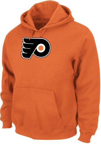 Majestic Philadelphia Flyers NHL Felt Tek Patch Logo Hooded Sweatshirt - Orange