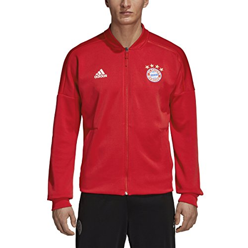 adidas Men's Bayern Munich Home ZNE Jacket (Medium) FCB True Red/White