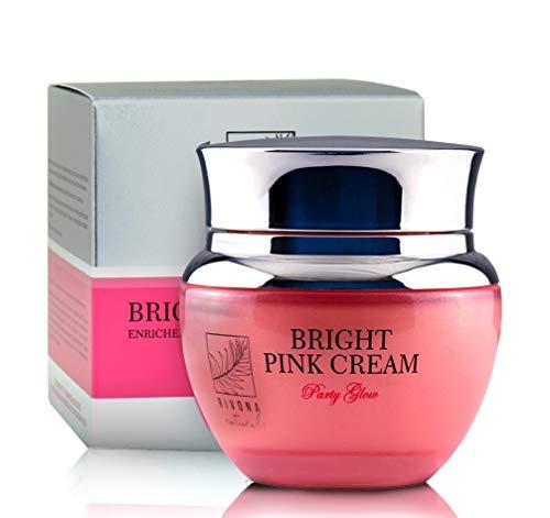 Rivona Naturals Bright Pink Cream   Premium Skin Whitening & Brightening Cream Enriched with Vitamin E & Hyaluronic Acid  Web Celebrity   50 G