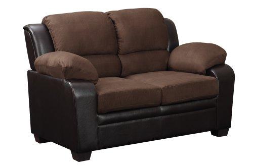 Global Furniture Upholstered Loveseat, Brown