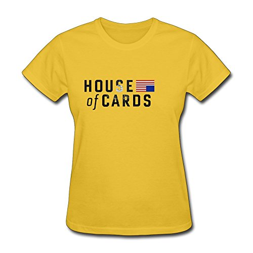 AOPO House Cards T-shirts For Womens X-Large Yellow (Robin Custome)