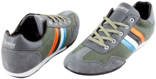Les Hommes Luvanni Espadrille Chaussures De Sport Gris En Cuir V