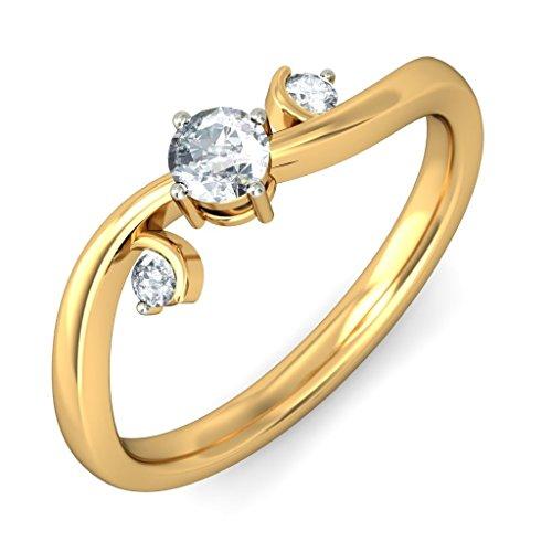Or jaune 18K, 0,23carat Diamant Blanc (IJ | SI) en diamant
