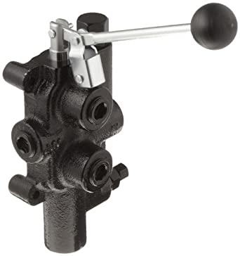 """Prince LS-3000-2 Directional Control Valve, Logsplitter, 4 Ways, 3 Positions, Spring Center to Neutral, Cast Iron, 2750 psi, Lever Handle, 25 gpm, In/Out: 3/4"""" NPTF, Work: 3/4"""" NPTF"""