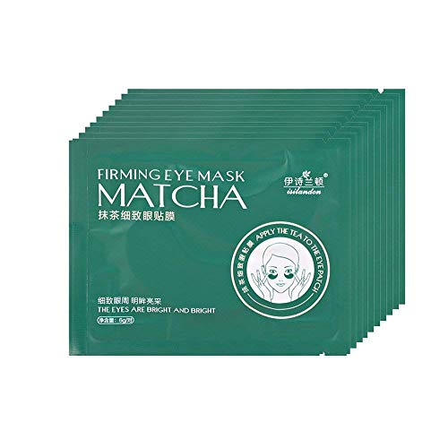 Hydrogel Under Eye Recovery Patch - Eye Masks Hyaluronic Acid Green Tea Hydrating Under Eyes Patches Pads for Dark Circles Puffy Eyes Moisturizing Firming Skin Pure Natural Formula 20pairs