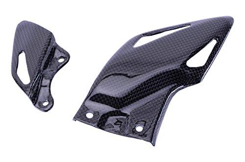 Bestem CBHO-1K08-HGD Black Carbon Fiber Heel Guard Plates for Honda CBR1000RR 2008 - 2013