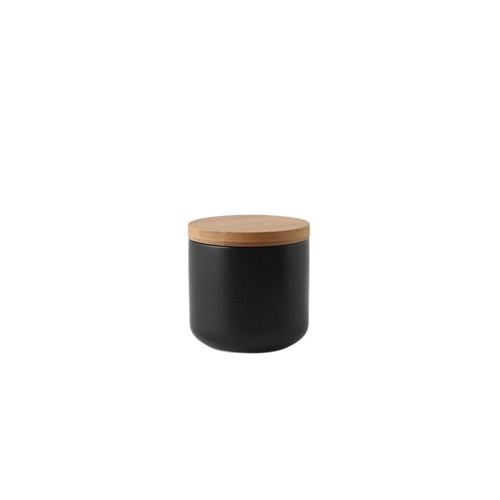 LeKing Cocina Creativa nórdica cerámica latas Selladas, Granos Diversos, café, Tanques de Almacenamiento de té, Tanques de Almacenamiento de condimentos, con Tapa,tarros Cocina (cartón)