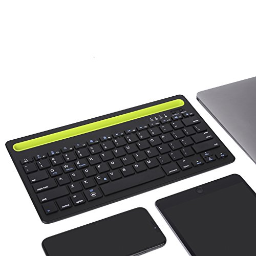 Sky Hiker Bluetooth keyboard, Dual Channel Multi-device Universal Bluetooth Rechargeable Keyboard with Integrated Stand for for Windows Android iOS PC Tablet Smartphone Macbook by Sky Hiker (Image #4)