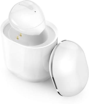 Amazon Com Szhtfx Bluetooth Earbud Bluetooth 5 0 Wireless Earbud Bluetooth Earpiece Invisible Earphone Car Headset With 260mah Charging Box Enhanced Comfort Single Earbud White Home Audio Theater
